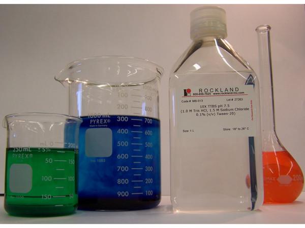 TTBS pH 7.5 (10X ), (1.0 M Tris HCl 1.5 M Sodium Chloride 0.1% (W/V) Tween-20)