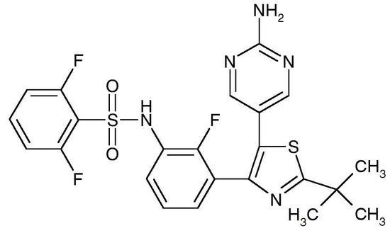 Dabrafenib, Free Base (GSK-2118436, Tafinlar, CAS 1195765-45-7), >99%
