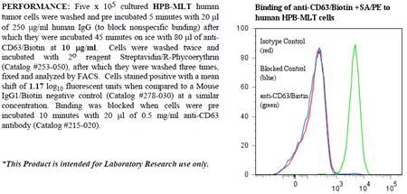 Anti-CD63 (human), clone AHN16.1, Biotin conjugated