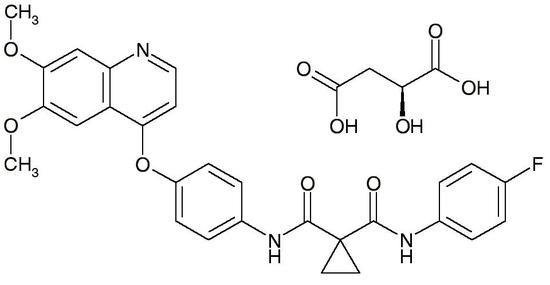 Cabozantinib, Free Base (BMS-907351, Cometriq, XL-184, CAS 849217-68-1), >99%