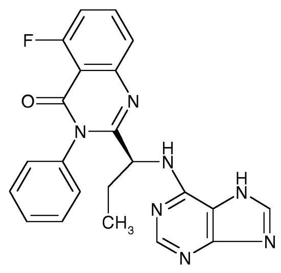 Idelalisib, Free Base (CAL-101, GS-1101, Zydelig, CAS 870281-82-6), >99%