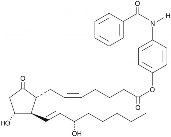 Prostaglandin E2 p-benzamidophenyl ester